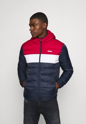 JJVINCENT PUFFER HOOD - Light jacket - tango red