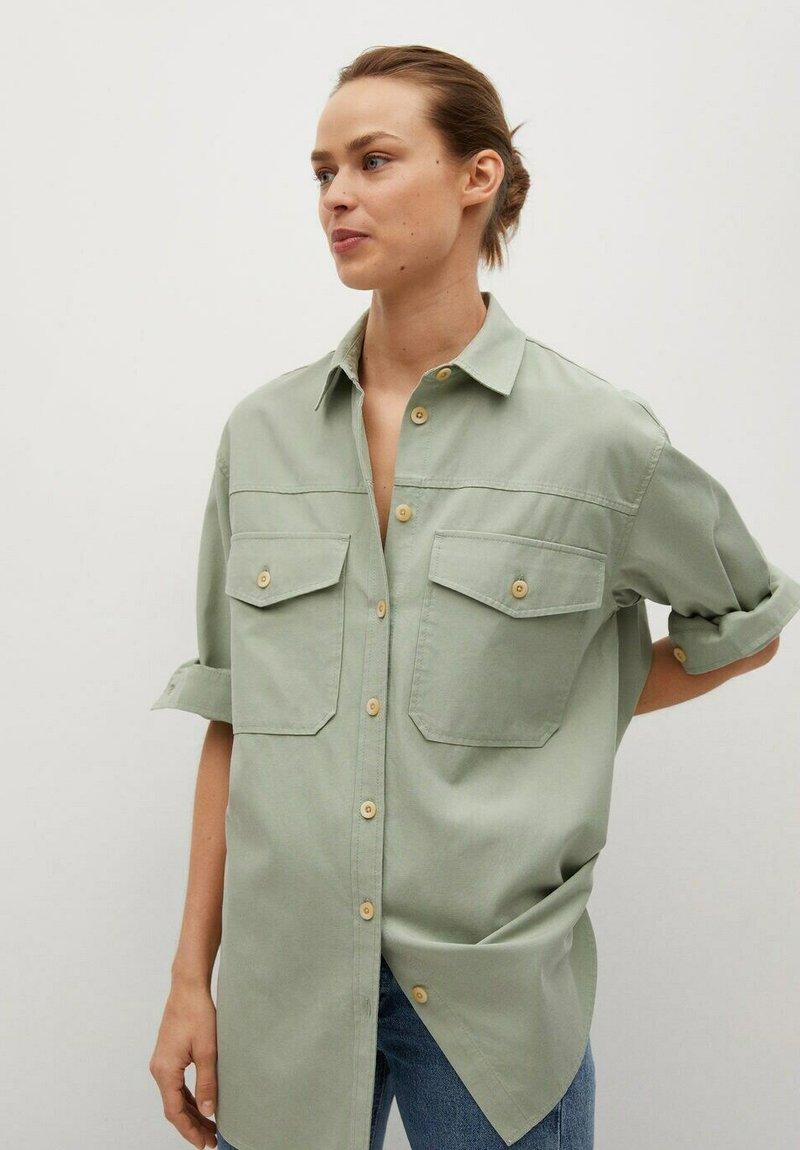 Mango - Button-down blouse - groen