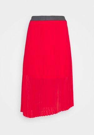 PLISSE MIDI SKIRT - A-line skirt - oxy red