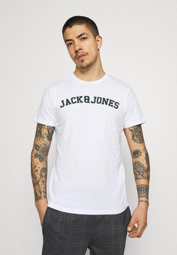 JORCHOLL TEE CREW NECK - Print T-shirt - white
