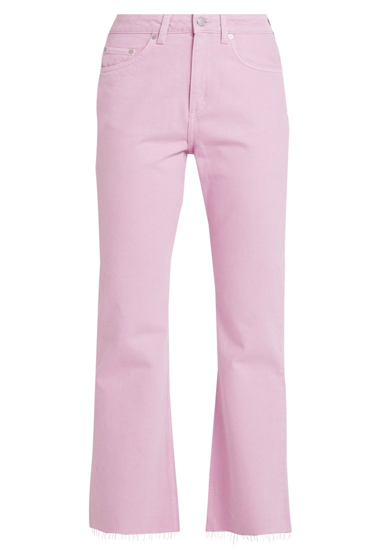 MILE CROPPED Flared jeans pink