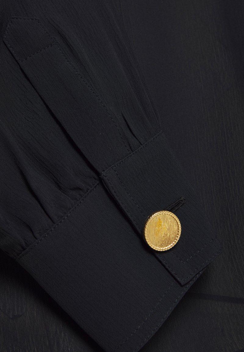 Rich & Royal BLOUSE WITH GATHERING DETAIL - Hemdbluse - black/schwarz HpEq5I
