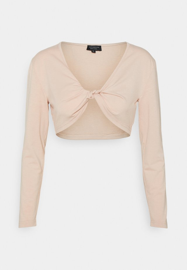 LONG SLEEVE TWIST FRONT - T-shirt à manches longues - pink sand