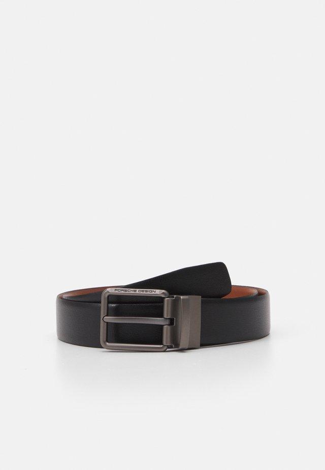 Belt - black/cognac