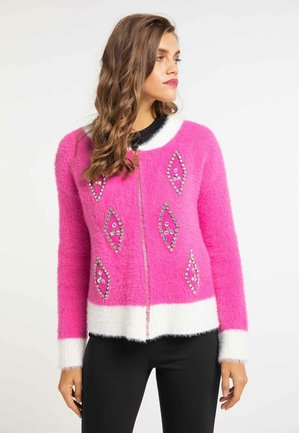 Cardigan - pink/white