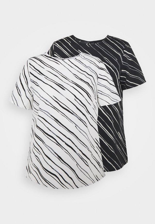 2PACK - Blouse - black/white print