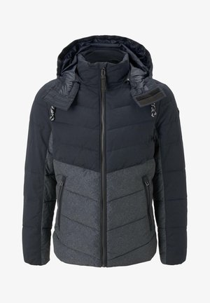 Winter jacket - blue melange structure