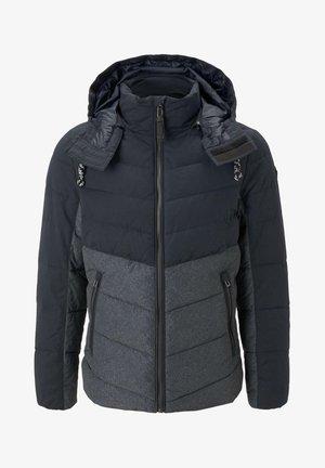 Winter jacket - blue melange structure