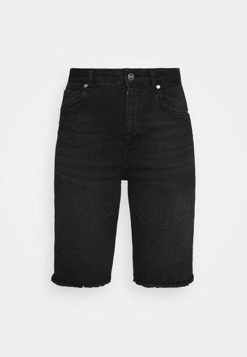 BERMUDA - Shorts di jeans - black