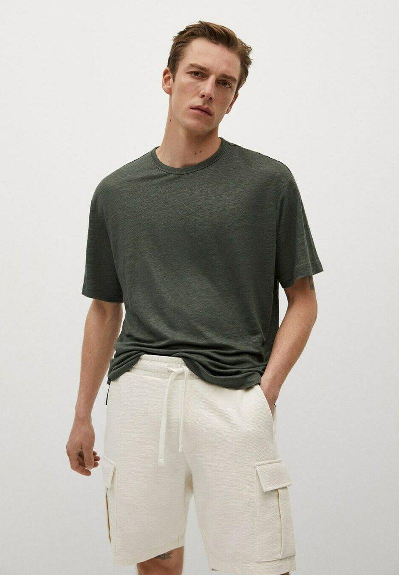 Mango - LINEL - Jednoduché triko - grønn