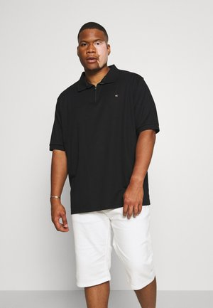 INTERLOCK ZIP - Polo shirt - black