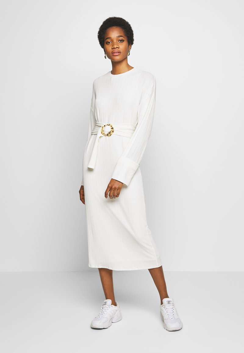 EDITED - SAIGE DRESS - Sukienka dzianinowa - creme