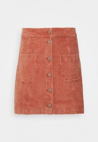 WARNING SIGN - A-line skirt - auburn