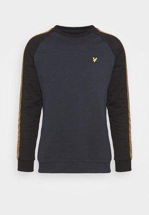 COLOUR BLOCK CREW - Sweatshirt - dark navy