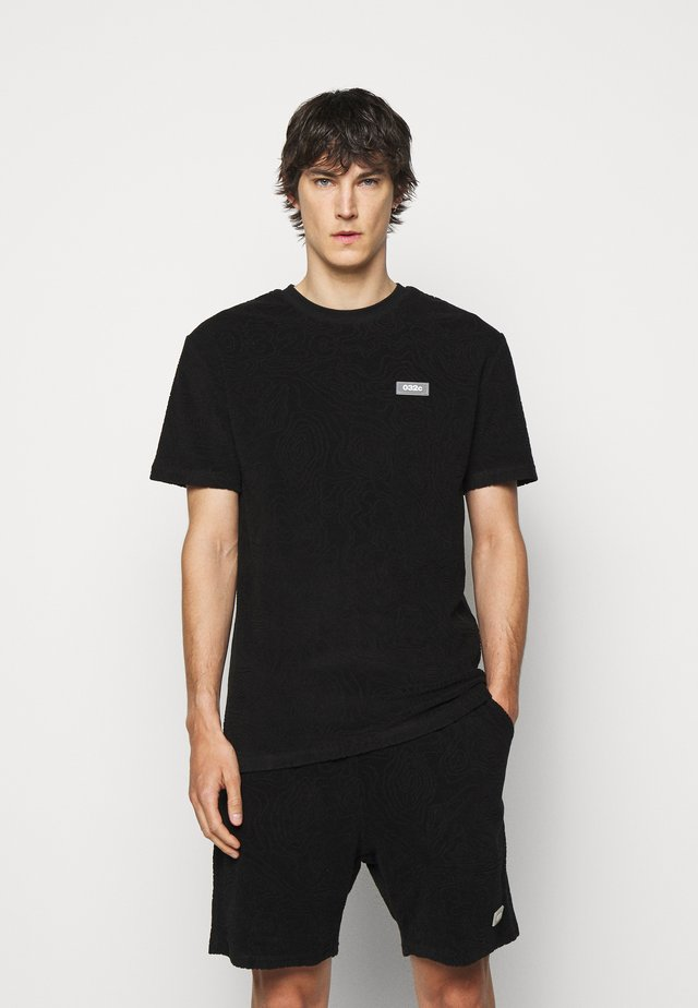 TOPOS SHAVED TERRY  - T-shirt con stampa - black