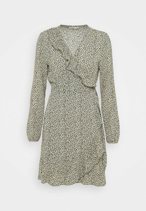ONLCARLY WRAP SHORT DRESS - Vestido informal - seagrass