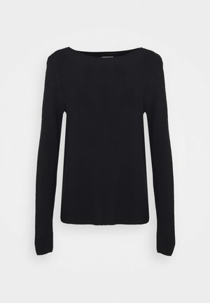 LONGSLEEVE SOLID STRUCTURED SEAMLESS - Pullover - dark atlantic