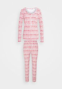 Cotton On Body - HENLEY LONG JOHN - Pyjama set - red - 4