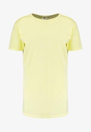 GARMENT LONGSHAPE - T-shirt basic - powder yellow