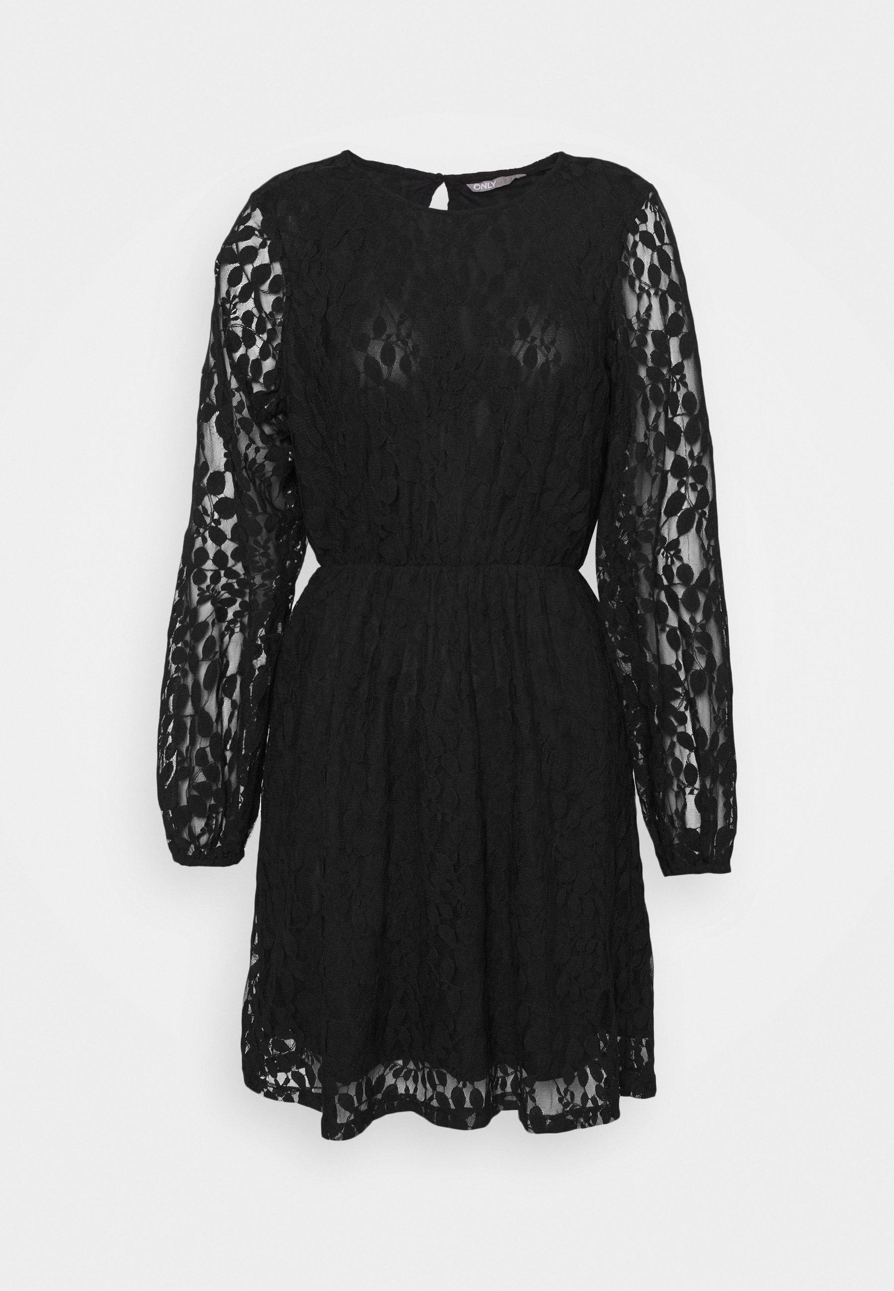 Only Onlbella Dress Robe De Soiree Black Noir Zalando Fr