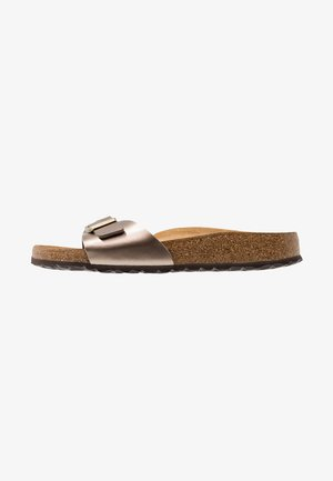 MADRID - Slippers - electric metallic taupe