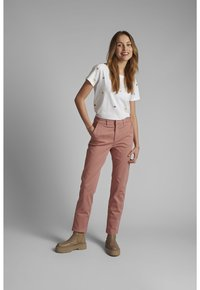 Nümph - NUCADDIE PANTS - Chinos - ash rose - 1