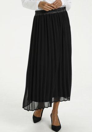 KASERITA - Pleated skirt - black deep