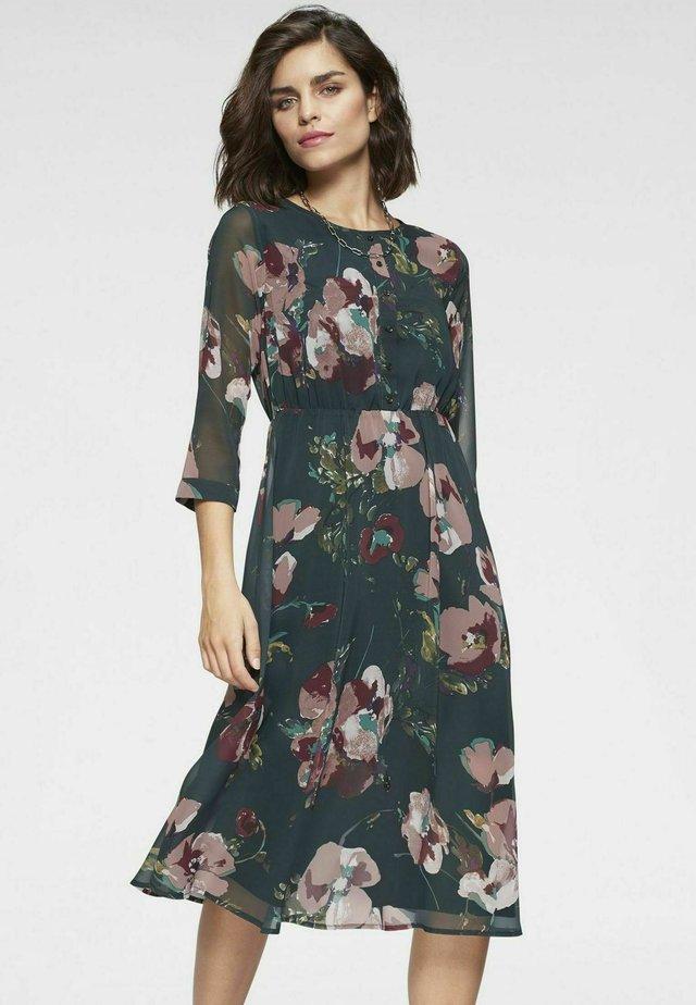 Korte jurk - blumen aop