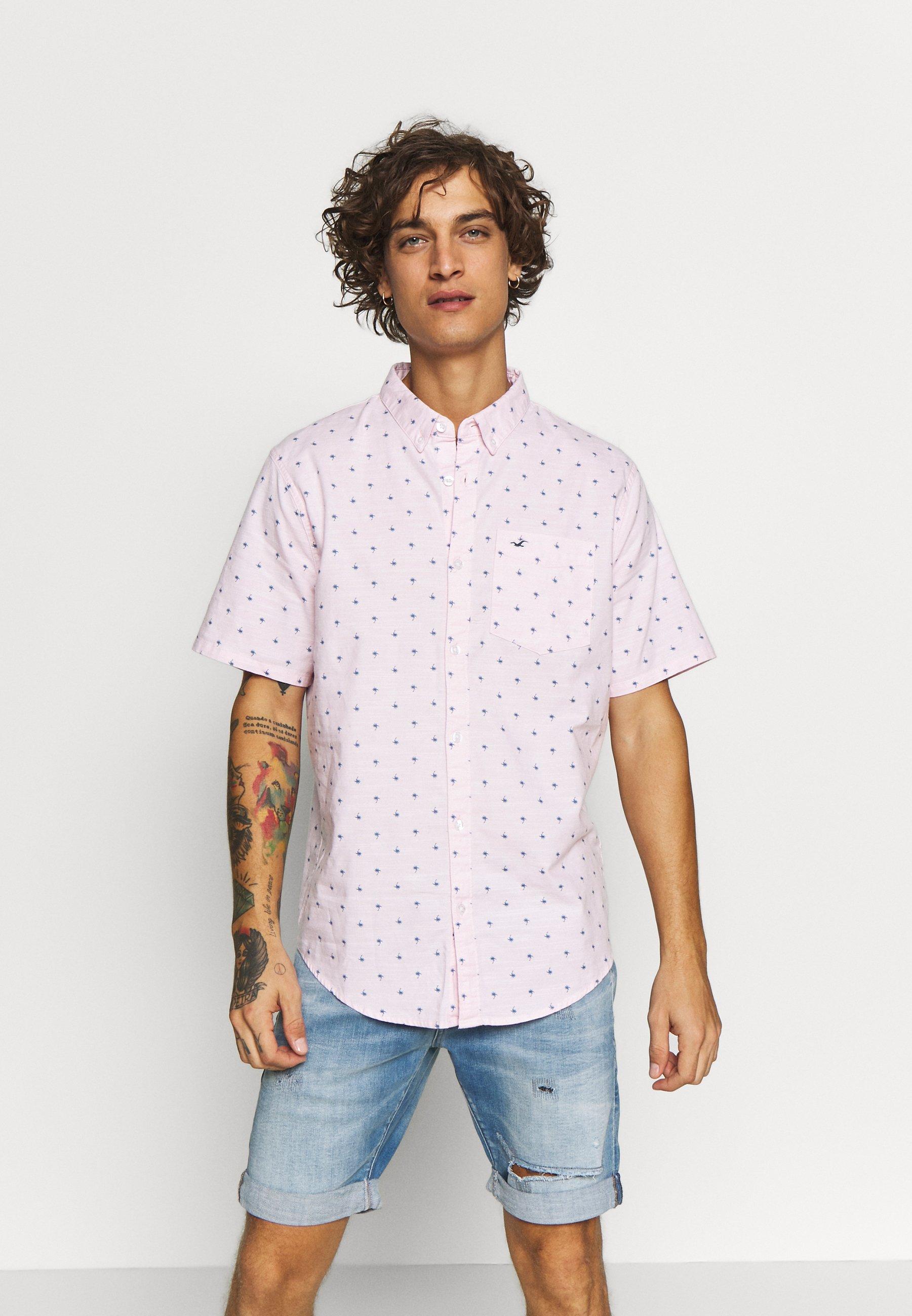 Hollister Co. SLIM FIT - Hemd - pink geo | Herrenbekleidung 2020