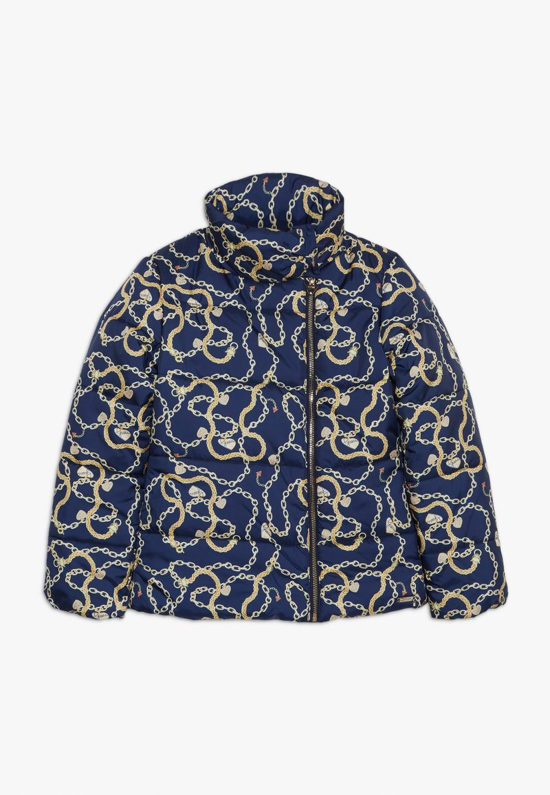 Guess - JUNIOR PADDED SLIM JACKET - Chaqueta de invierno - dark blue/gold