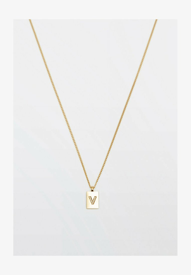 Massimo Dutti - MIT BUCHSTABE - Necklace - gold