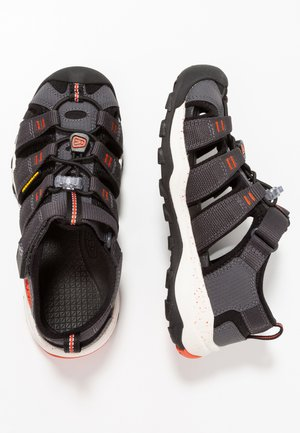 NEWPORT NEO H2 - Walking sandals - magnet/spicy orange