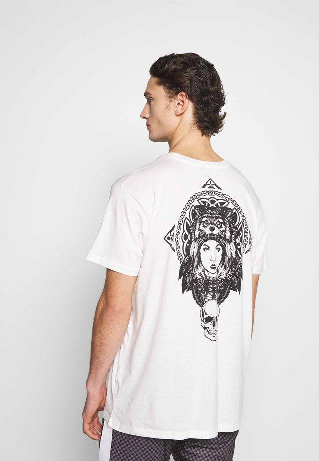CELTIC - T-shirt print - off white/black