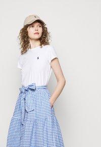 Polo Ralph Lauren - GINGHAM - A-line skirt - medium blue - 4
