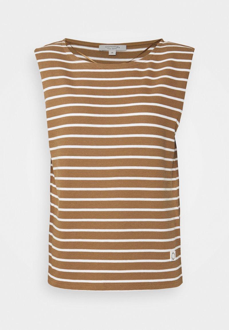 comma casual identity - Print T-shirt - beige