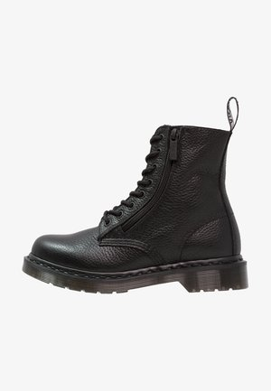 1460 PASCAL ZIP 8 EYE BOOT - Lace-up ankle boots - black