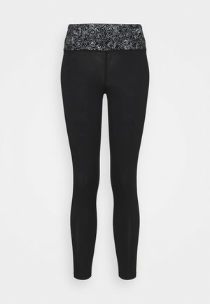 YOGA 7/8 LEGGINGS - 3/4 sports trousers - black