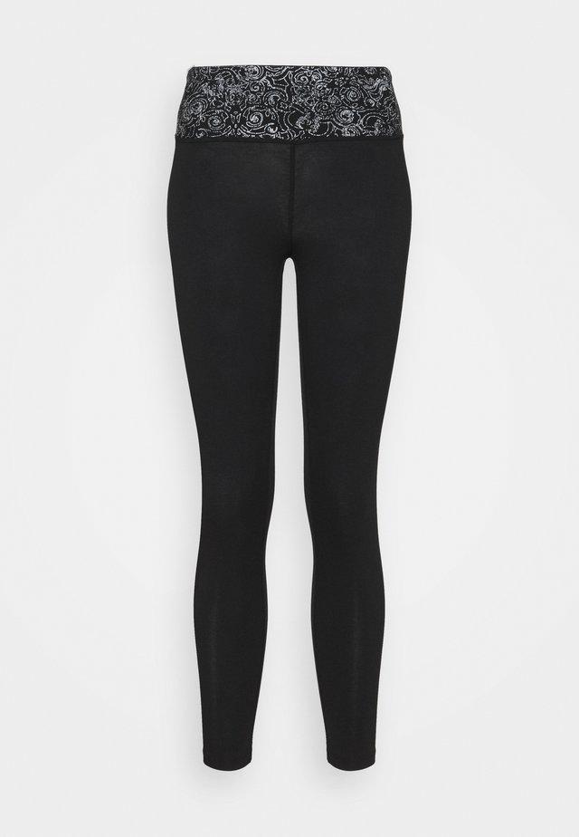 YOGA 7/8 LEGGINGS - 3/4 sports trousers - black