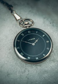 LAIMER - LAIMER QUARZ HOLZUHR - ANALOGE TASCHENUHR SANDELHOLZ - Watch - silver - 5