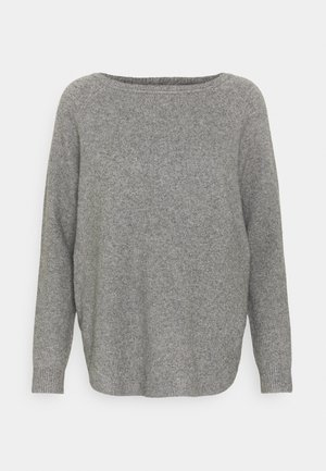 ONLELENA BOATNECK - Strickpullover - medium grey melange