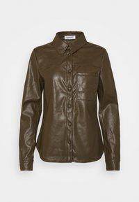 Glamorous - LONG SLEEVES AND QUILTED POCKET - Blusa - khaki - 4
