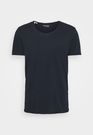 SLHWYATT O NECK TEE  - Jednoduché triko - navy blazer