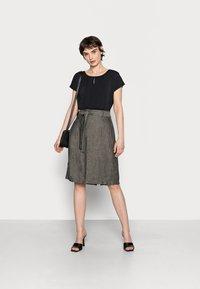 Opus - RAILA - A-line skirt - black oliv - 1