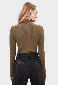 Bershka - Sweter - khaki - 2