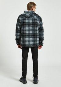 PULL&BEAR - Fleece jacket - mottled dark grey - 2