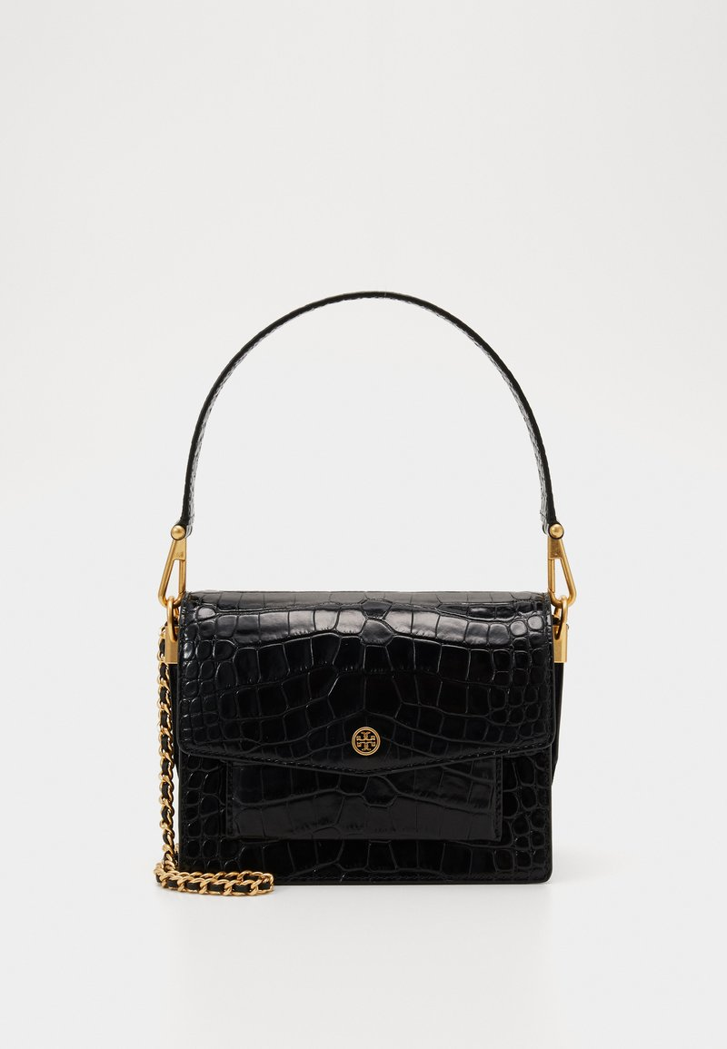 Tory Burch - ROBINSON CONVERTIBLE SHOULDER BAG - Kabelka - black