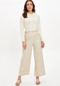 DeFacto - Trousers - beige - 3