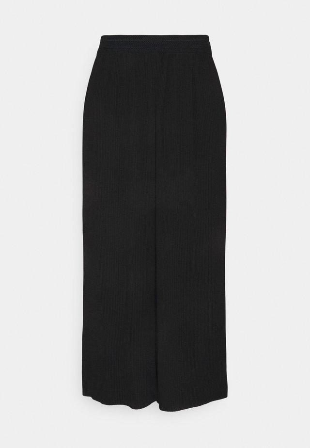 ONLMARIN PLISSE CULOTTE - Pantaloni - black