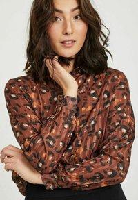 Vila - Button-down blouse - tobacco brown - 3