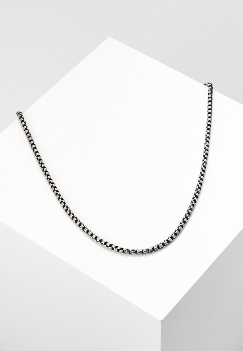 Topman - BRUSHED - Collier - silver-coloured